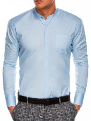 Ombre Clothing Pánská elegantní košile s dlouhým rukávem Franp světle modrá