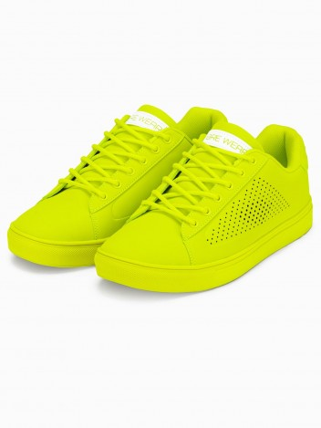 Ombre Clothing Pánské kotníkové boty Isolde limetkově zelená