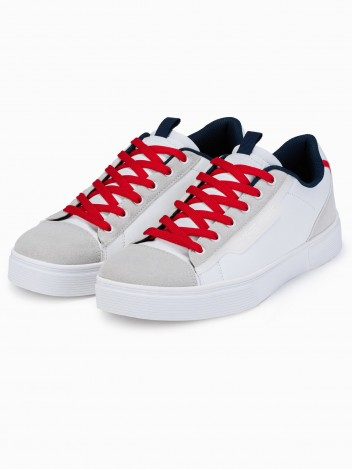 Ombre Clothing Pánské kotníkové boty Regina bílá