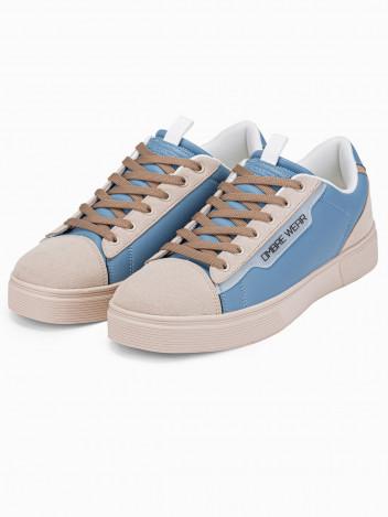 Ombre Clothing Pánské kotníkové boty Regina světle modrá