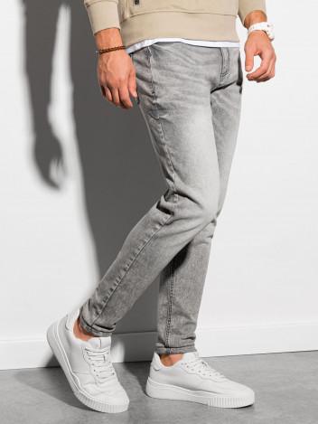 Ombre Clothing Pánské džíny Leilt šedá