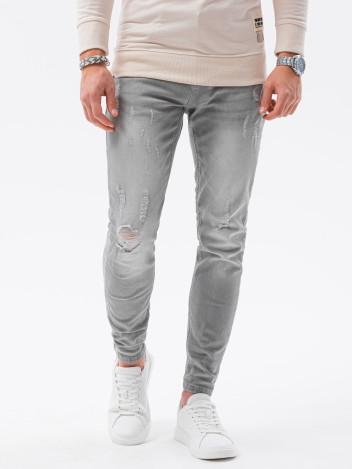 Ombre Clothing Pánské džíny Raoul šedá