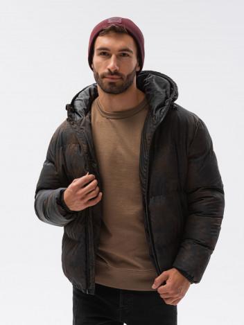 Ombre Clothing Pánská zimní bunda Therese černá