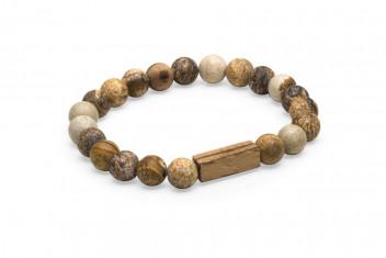BeWooden Náramek s dřevěnými korálky Corra Bracelet