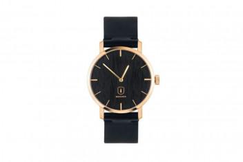 BeWooden Dřevěné hodinky s řemínkem z pravé kůže Lux Watch