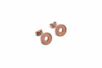 BeWooden Náušnice s dřevěným detailem Rea Earrings Circle