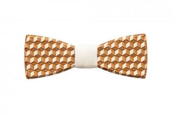 BeWooden Pánský dřevěný motýlek Cubo