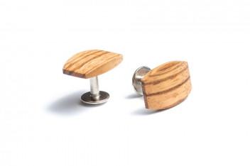 BeWooden Dřevěné manžetové knoflíčky Lini