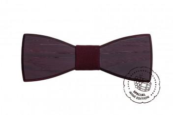 BeWooden Pánský dřevěný motýlek Red Wine Bow Tie