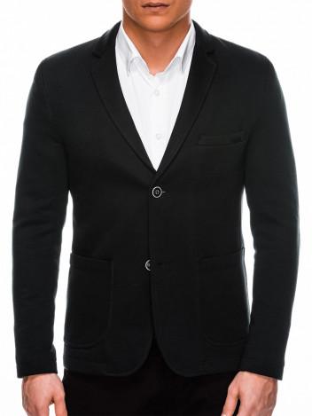 Ombre Clothing Pánské ležerní sako Brantley černé