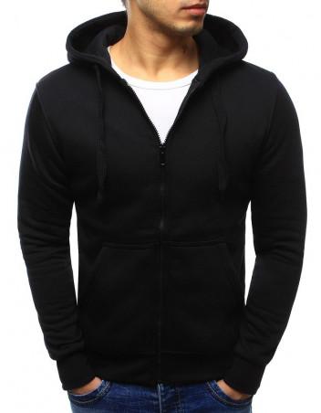 Dstreet Pánská mikina na zip s kapucí Almut černá