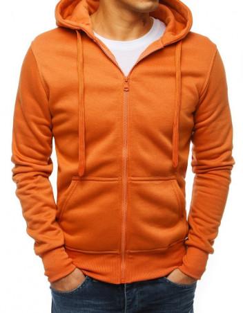 Dstreet Pánská mikina s kapucí Fingal oranžová