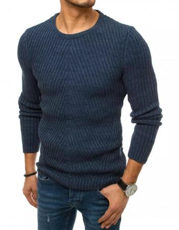 Dstreet Pánský svetr přes hlavu Seved modrá