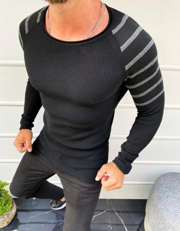 Dstreet Pánský svetr přes hlavu Felix černá