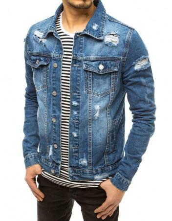 Dstreet Pánská džínová bunda Leander nebesky modrá