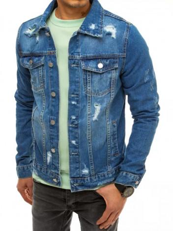 Dstreet Pánská džínová bunda Adam modrá