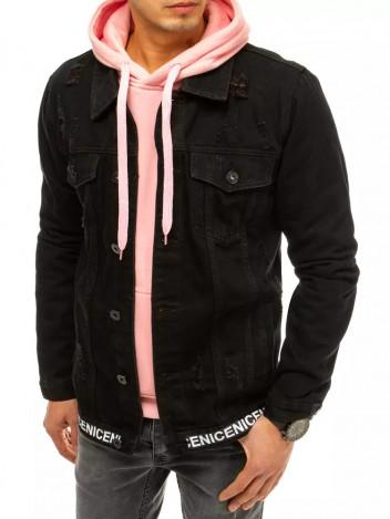 Dstreet Pánská džínová bunda Victoria černá