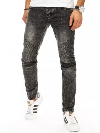 Dstreet Pánské džínové kalhoty Hagar tmavě šedá