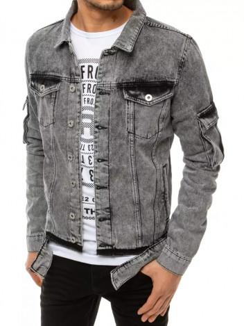 Dstreet Pánská džínová bunda Walburga šedá