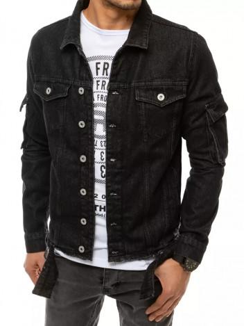 Dstreet Pánská džínová bunda Edigna černá