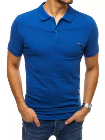 Dstreet Pánské polo tričko Aurea tmavě modrá
