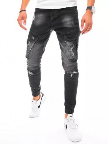 Dstreet Pánské džínové kapsáče Korbinian černá