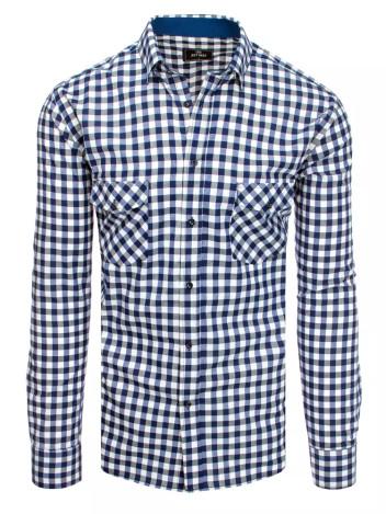 Dstreet Pánská kostkovaná košile Phollipine bílo-navy