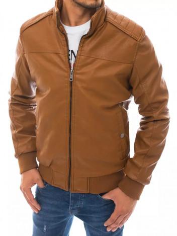 Dstreet Pánská kožená bunda Jolna khaki