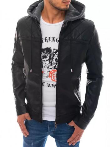 Dstreet Pánská kožená bunda Wigand černá