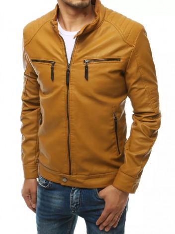 Dstreet Pánská kožená bunda Krispin khaki
