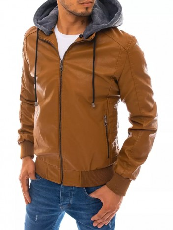 Dstreet Pánská kožená bunda Armella khaki