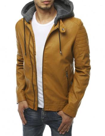 Dstreet Pánská kožená bunda Saloma khaki