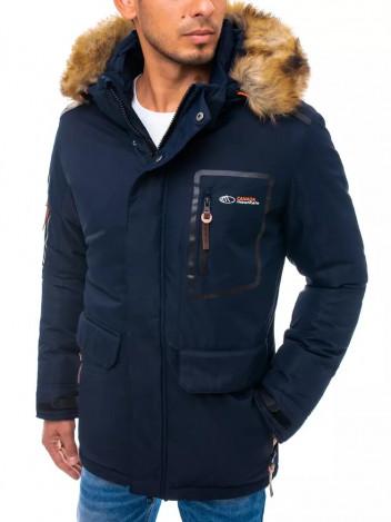 Dstreet Pánská zimní bunda Gudula tmavě modrá