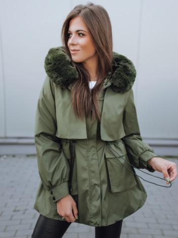Dstreet Dámská bunda s kapucí Taylor zelená
