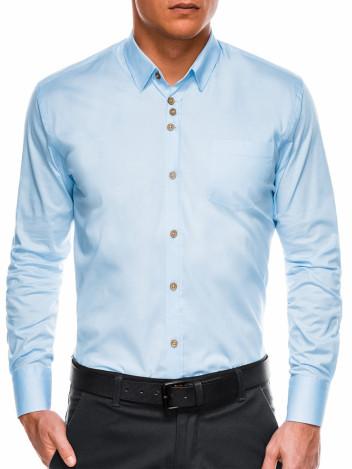 Ombre Clothing Pánská elegantní košile s dlouhým rukávem Jude světle modrá