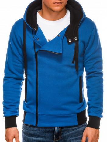 Ombre Clothing Pánská mikina na zip s kapucí Chandler modrá