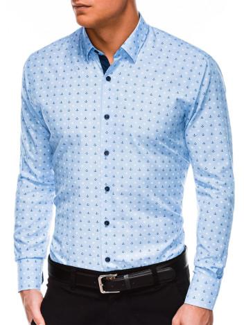 Pánská elegantní košile s dlouhým rukávem Juelz světle modrá
