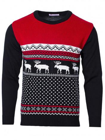 Pánský svetr se sobem Marching Reindeer