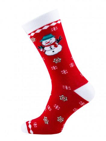 Vánoční ponožky Snowman červené vel. 35-38