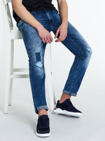 Pánské riflové kalhoty Edla tmavě modré