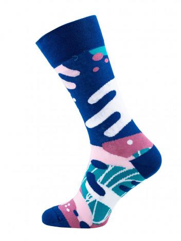Veselé barevné vzorované ponožky Scribble multicolor vel. 39-42