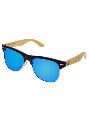 VeyRey Brýle dřevěné polarizační Hyalos modrá skla