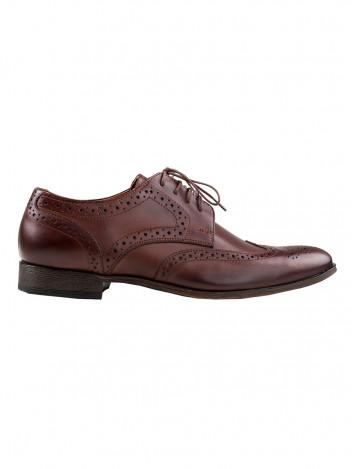 Pánské boty s derbou Angelo tmavě hnědé vel. 40