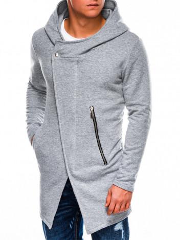 Pánská mikina na zip s kapucí Hugo šedá