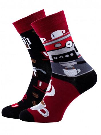 Veselé barevné vzorované ponožky Espresso multicolor vel. 35-38