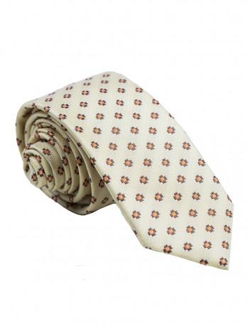 Pánská vzorovaná kravata Giraffe žlutá