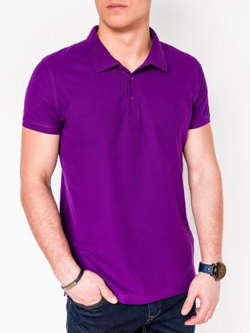 Pánské basic polo tričko Sheer fialové