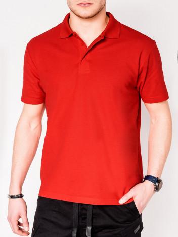 Pánské basic polo tričko Sheer červené