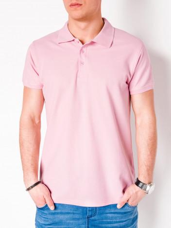 Pánské basic polo tričko Sheer světle růžové