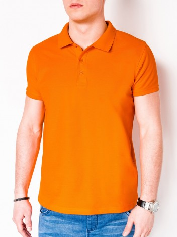 Pánské basic polo tričko Sheer oranžové